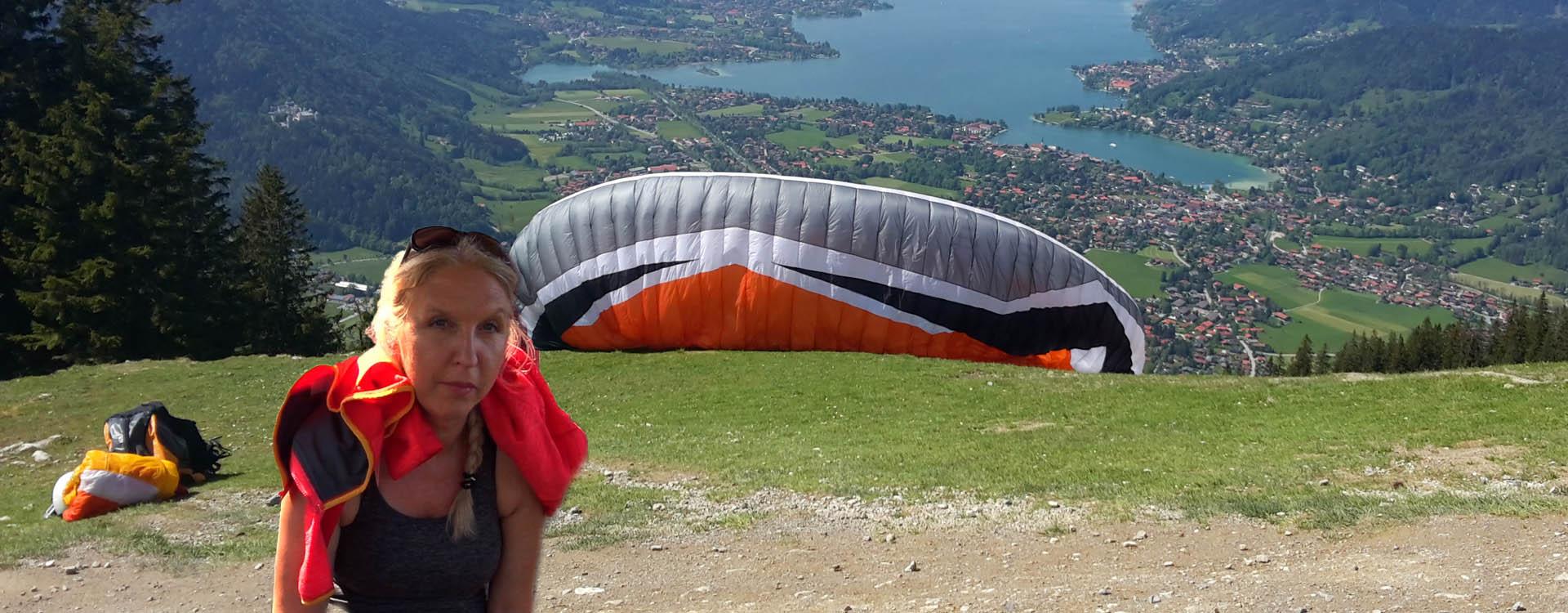 Paragliding Gleitschirmfliegen Tegernsee