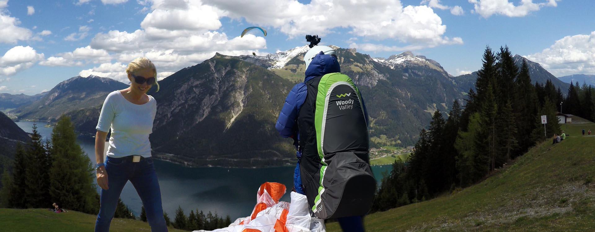 Paragliding Gleitschirmfliegen Achensee Rofan Austria Österreich