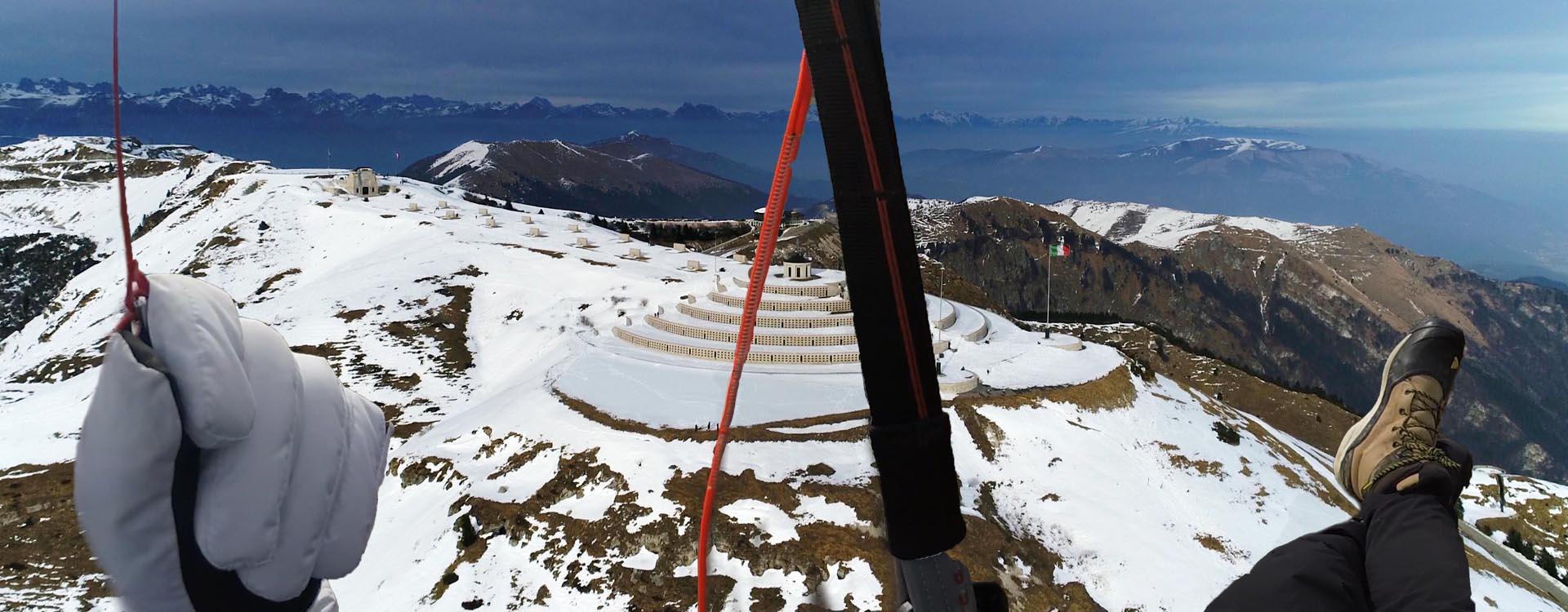 Bassano Paragliding Gleitschirmfliegen Ossarium Monte Grappa